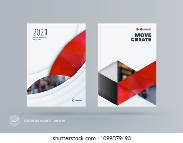 Brochure design round template. Colourful modern abstract set, annual report with circle for branding.