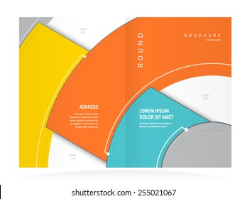 brochure design template abstract circles booklet