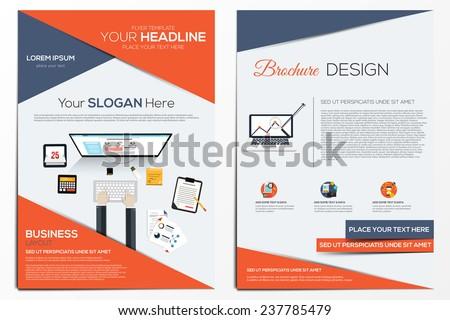 brochure design template abstract modern backgrounds のベクター画像