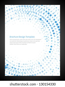 Brochure design template business, vector illustration