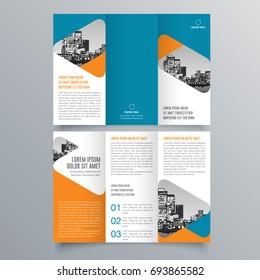 Brochure design, brochure template, creative tri-fold trend brochure