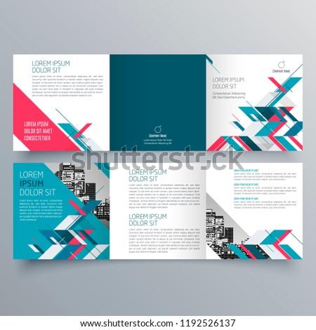 Brochure Design Brochure Template Creative Trifold Stock Vector