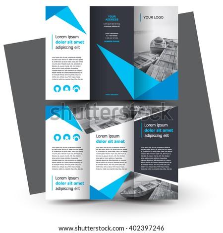 brochure design brochure template creative trifold のベクター画像