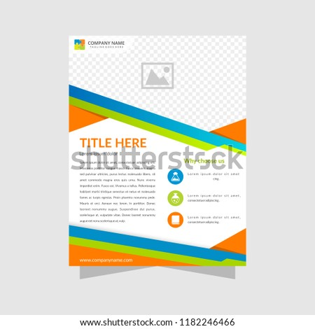 Brochure Design Template Flyer Abstract Business Stock Vector
