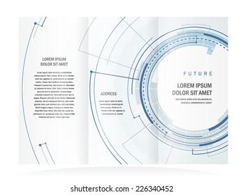 brochure design template future circles technological