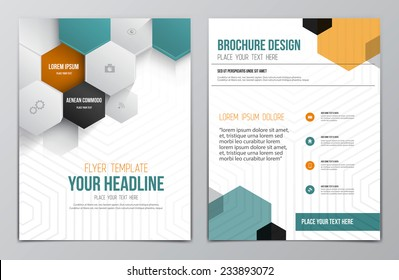 Brochure Design Template. Geometric shapes, Abstract Modern Backgrounds, Infographic Concept. Vector
