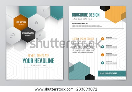 brochure design template geometric shapes abstract のベクター画像