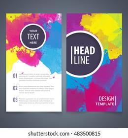 Brochure design template, Brochure design layout, Brochure design cover, Brochure design mockup, Brochure design page, Brochure design concept, Brochure design vector.Watercolor background..