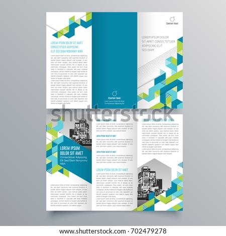 Brochure Design Brochure Template Trend Brochure Stock Vector