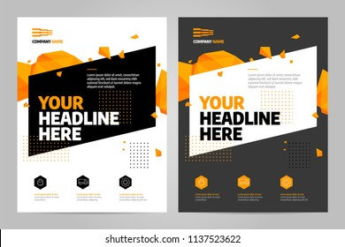 Brochure design template vector. Abstract square cover book portfolio presentation. Flyers report business magazine and minimal poster.