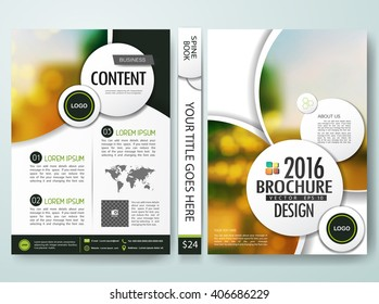 Brochure design template vector. Flyers report business magazine. Cover book portfolio presentation and abstract white shape on poster. City concept in A4 layout.