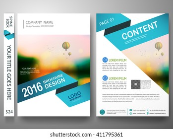 Brochure design template vector. Flyers report business magazine. Cover book portfolio presentation and abstract blue shape on poster. City in A4 layout.