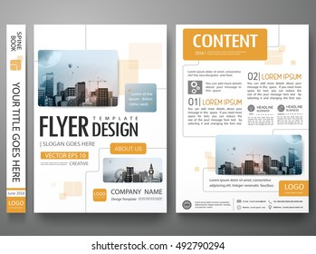 Brochure design template vector. Flyers report business magazine minimal portfolio. Abstract square in cover book presentation poster. City concept in A4 layout.