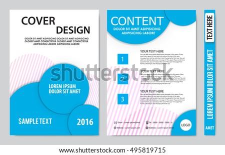 brochure design template vector flyers annual stock vector royalty