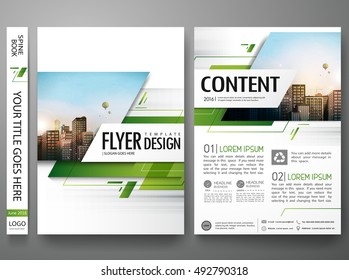 Brochure design template vector.Green abstract square cover book portfolio presentation poster.City design on A4 layout. Flyers report business magazine poster layout.Minimal banner portfolio template