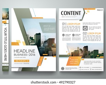 Brochure design template vector. Green abstract minimal square cover book portfolio presentation poster. City concept on A4 layout. Flyers report business magazine.