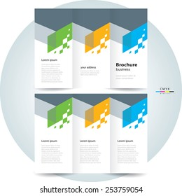 brochure design template vector tri-fold abstract