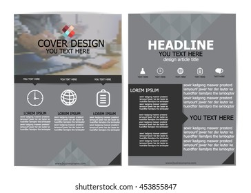 Brochure Design Templates or flyer layout, A4 size