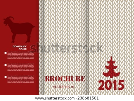 Brochure Design Templates Knitting Texture New Stock Vector Royalty