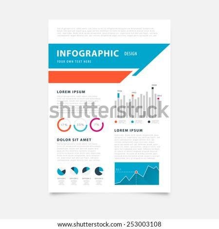 brochure design templates mobile technologies applications stock