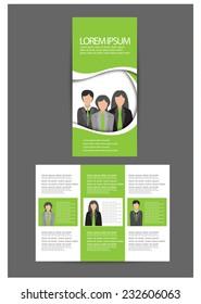 brochure design. vector