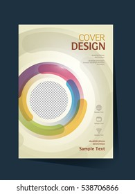 Brochure design vector template in A4 size. Annual report. Abstract book cover. Simple pattern. Flyer promotion. Presentation cover. Vector illustration.