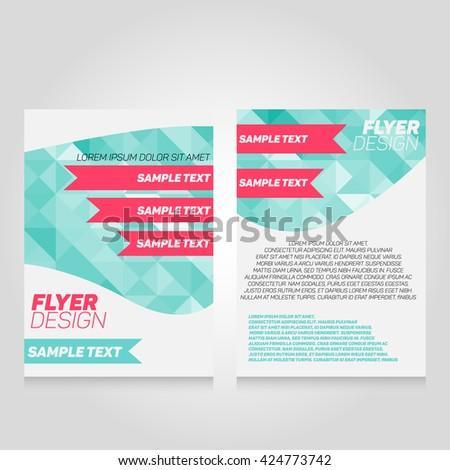 Brochure Flier Design Template Vector Poster Stock Vector Royalty