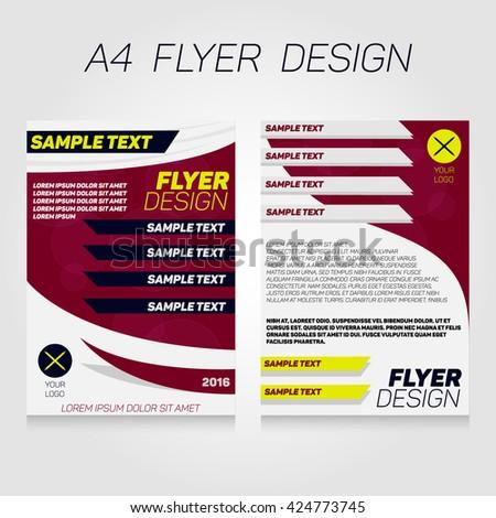 Brochure Flier Design Template Vector Concert Stock Vector Royalty