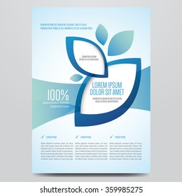 Brochure, flyer, annual report, magazine cover vector template. Modern corporate design.
