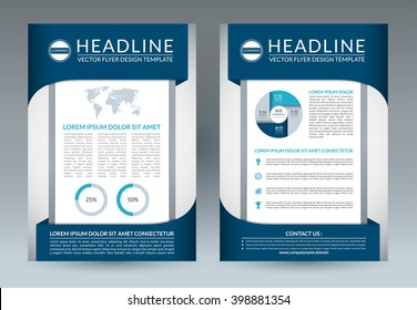 brochure flyer design layout template a4 size front and back page vector booklet