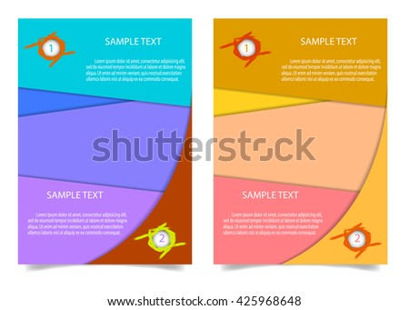 brochure flyer design layout template a 4 stock vector royalty free