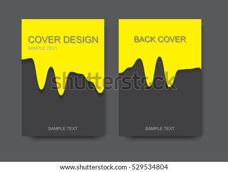 brochure flyer design layout template annual stock vector royalty