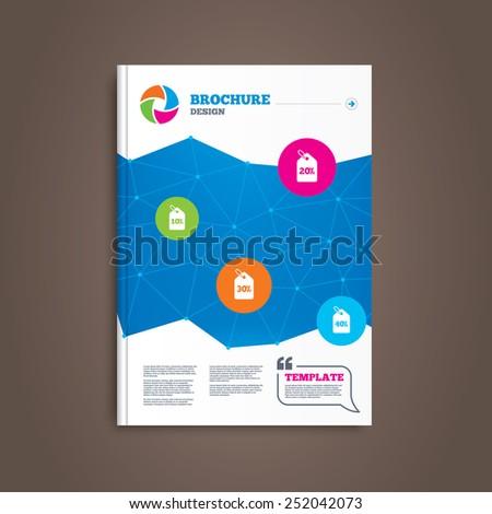 brochure flyer design sale price tag stock vector royalty free