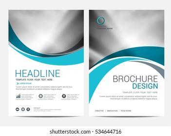 Brochure or flyer design template background.