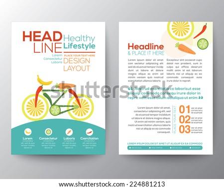 brochure flyer design vector template layout のベクター画像素材