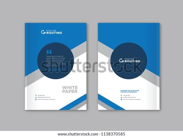 Brochure Flyer Handout Leaflet White Paper Stock Vector (Royalty