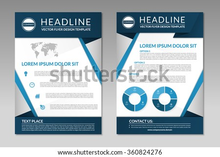 Brochure Flyer Leaflet Design Template A 4 Stock Vector Royalty