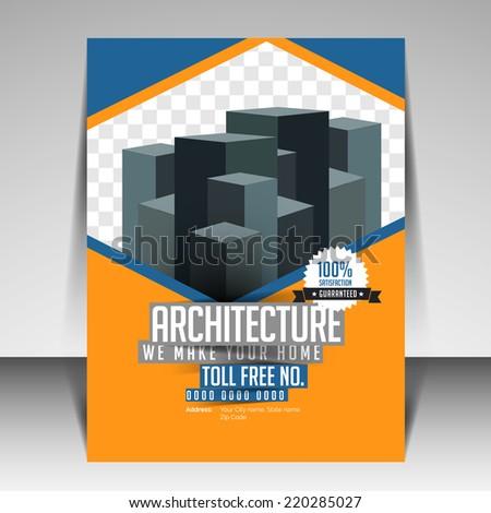 brochure flyer template design real estate stock vector royalty