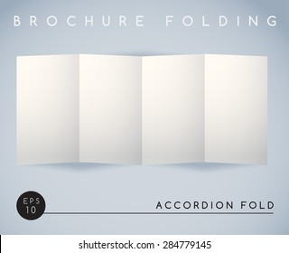 Brochure Folding : Accordion Fold (4 Panel ) : Vector Illustration