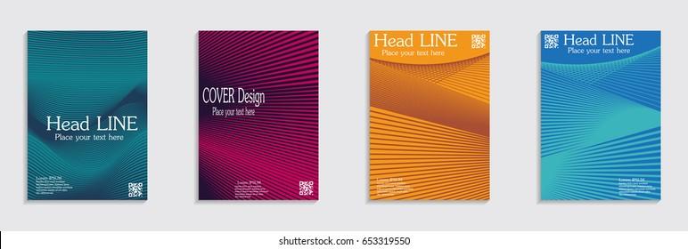 Brochure. Geometric halftone gradients. Eps10 vector.