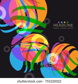 Brochure header colorful layout background template design
