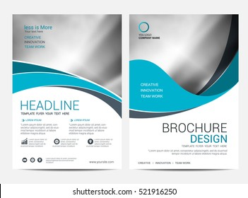Brochure Layout design template, Annual report Leaflet Flyer template