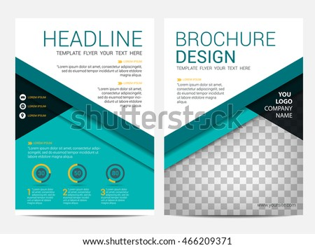 brochure layout design template annual report stock vector royalty