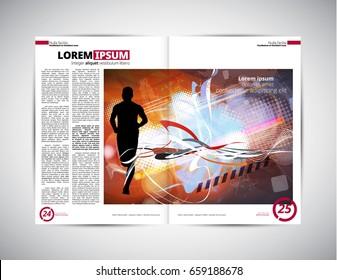 Brochure layout, easy editable vector