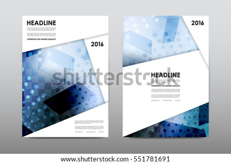 Brochure Layout Template Flyer Design Vector Image Vectorielle De