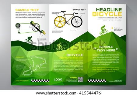 brochure leaflet design trifold template vector stock vector