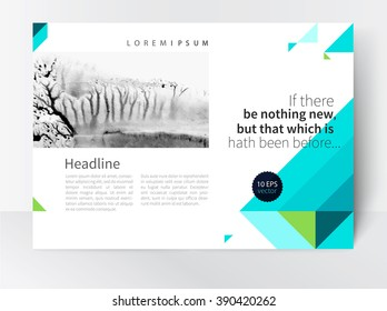 Brochure, leaflet, magazine spread, poster template. stock-vector abstract background