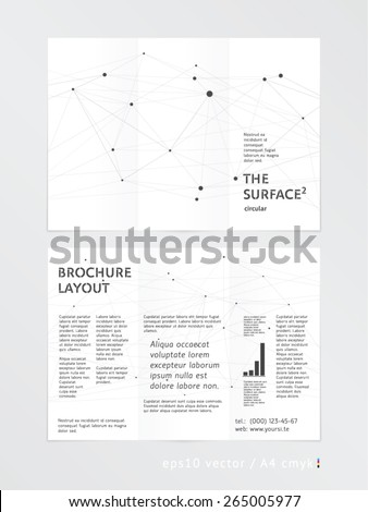 brochure leaflet trifold layout template low stock vector royalty