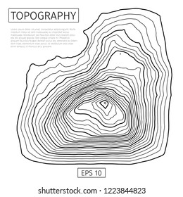Brochure, poster, advertising design. Vector contour topographic map background. Topography and geography map grid abstract backdrop. Business concept. Vector illustration