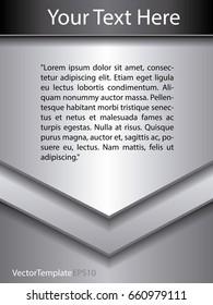 Brochure Silver background